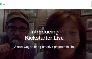 Kickstarter Live Lets Crowdfunders Connect with Backers on a New Level