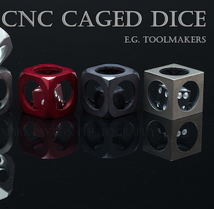 KICKSTARTER STAFF PICK 'CNC CAGED DICE' AIMS TO MAKE THE COOLEST DICE EVER
