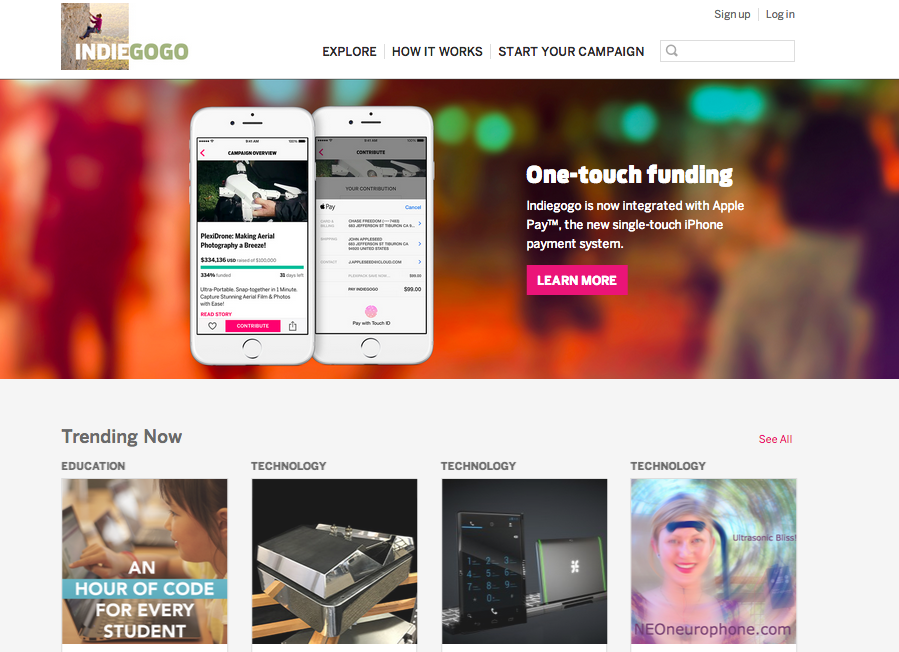 Indiegogo vs. Kickstarter