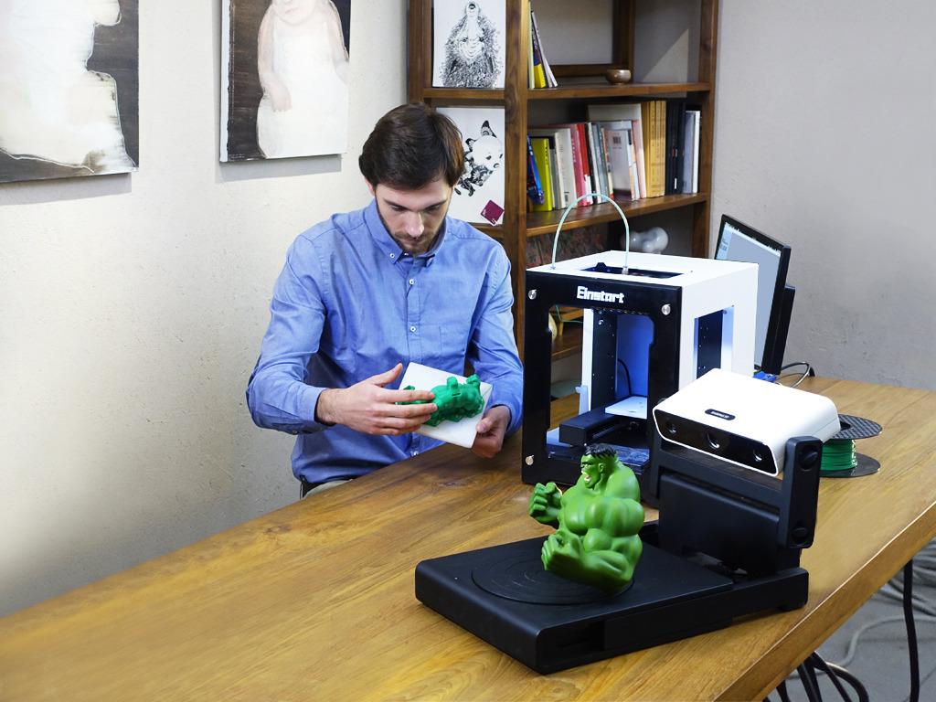 EinScan-S: The World's First White Light Desktop 3D Scanner