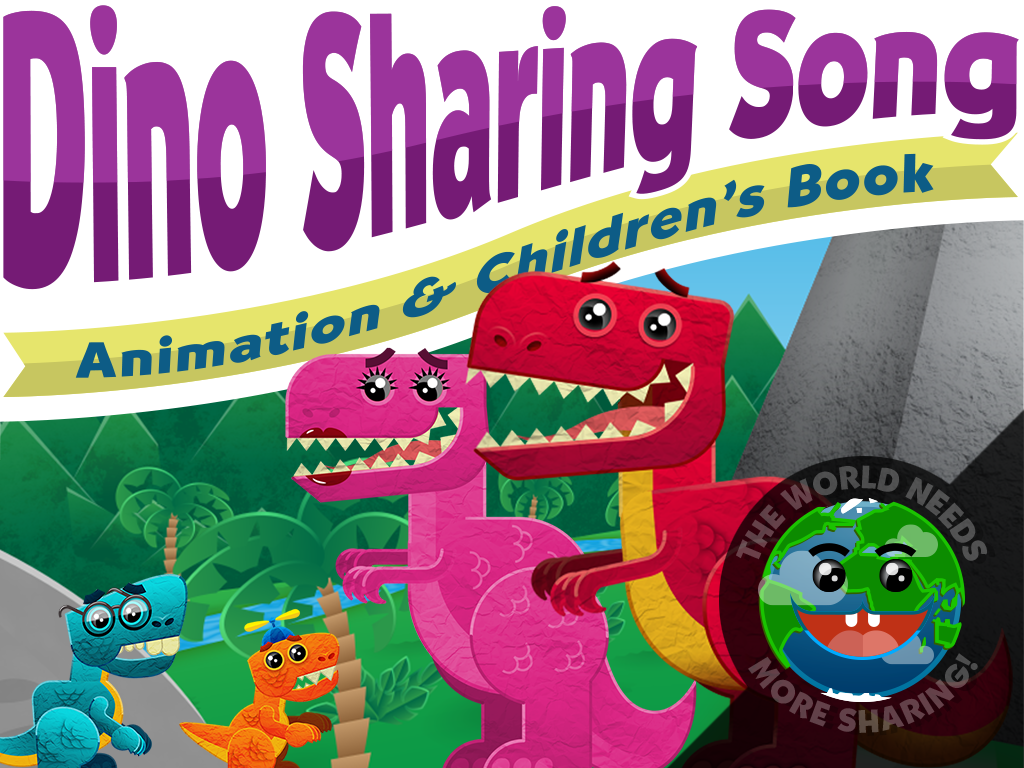 Animation and Children's Book Dino Sharing Song on Kickstarter