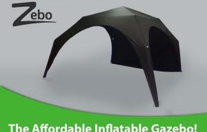 Zebo: The Affordable Inflatable Gazebo on Kickstarter