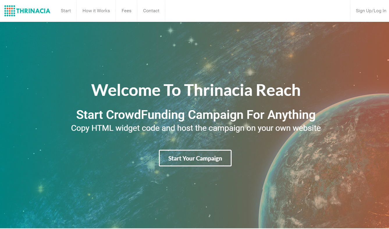 Thrinacia Reach Crowdfunding Service Launches to the Public