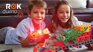 Robots!  Kids Build & Program with Rokenbok's New Set