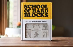School of Hard Blocks: Set of 12 Concrete Blocks Launches on Kickstarter, Because Life is Hard
