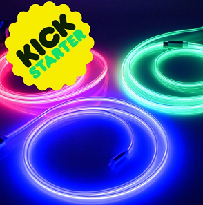 VERSALUME LAUNCHES USB CABLE THAT GLOWS WITH LASER LIGHT ON KICKSTARTER