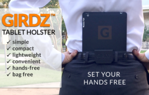GIRDZ Tablet Holster Launches on Kickstarter To Make iPads and Tablets Hands and Bag Free